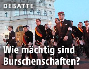 Aufmarsch von Burschenschaften in Wien