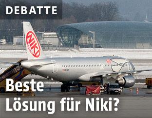 Flugzeug der Linie Niki