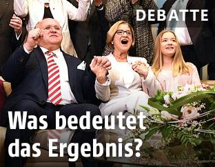 Jubel der ÖVP-Spitzenkandidatin Johanna Mikl-Leitner