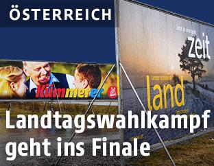 Wahlplakate in Niederröstereich