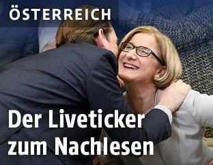 ÖVP-Spitzenkandidatin Mikl-Leitner und Bundeskanzler Kurz