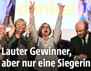 Jubel von ÖVP-Spitzenkandidatin Mikl-Leitner