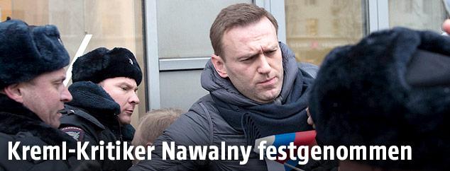 Alexei Navalny wird festgenommen