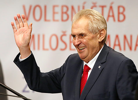 Zeman bleibt tschechischer Präsident