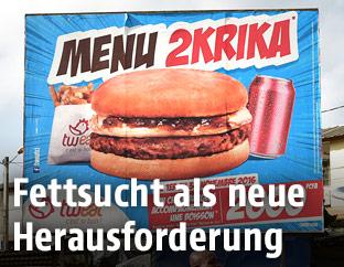 Werbung für Fast Food