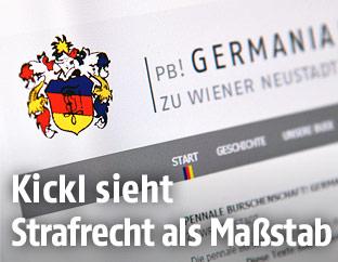 Die Webseite der Wiener Neustädter Burschenschaft Germania