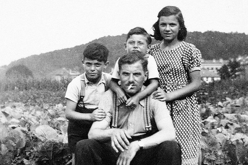 Familienfoto von Gertrude Pressburger