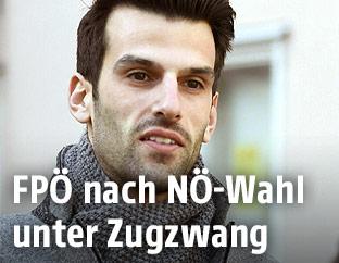Der niederösterreichische FPÖ-Spitzenkandidat Udo Landbauer<br />