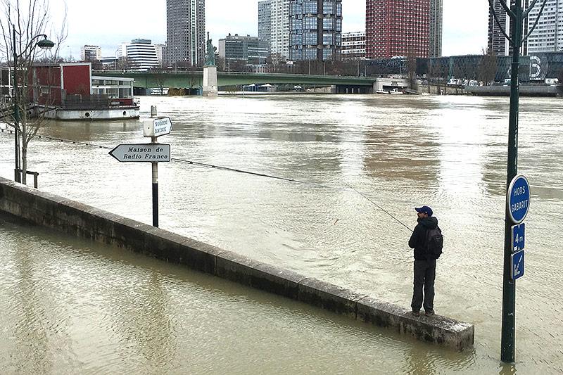 Hochwasser in Paris