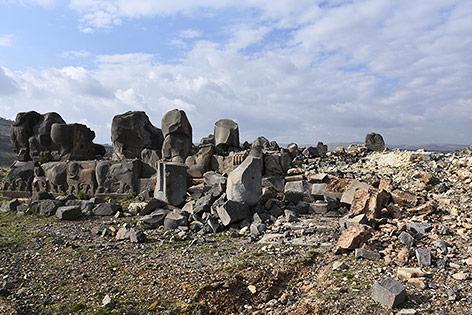 Zerstörter Tempel in Ain Dara