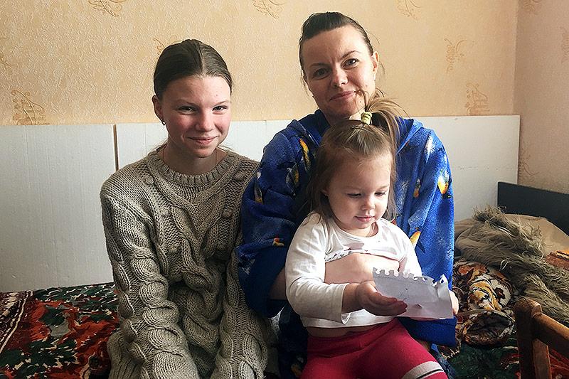 Ukrainische Familie