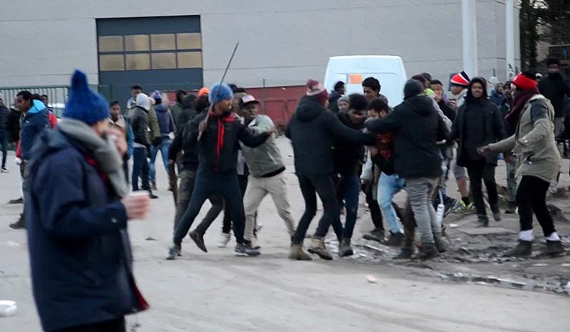 Schwere Ausschreitungen in Calais