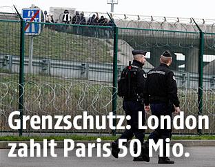Grenzschutzbeamte in Calais