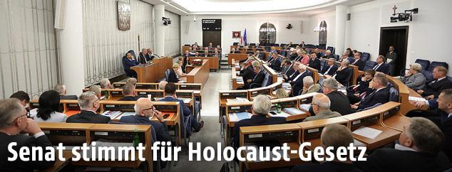 Polnischer Senat im Parlament in Warschau