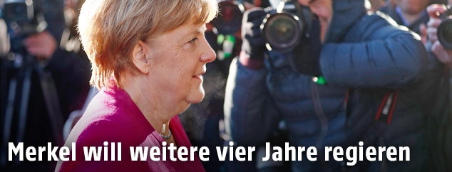 Die deutsche Bundeskanzlerin Angela Merkel
