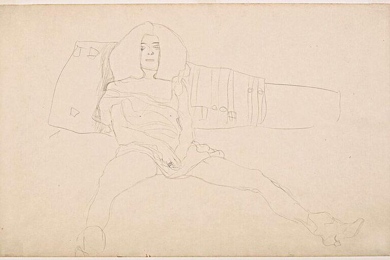 Sitzender weiblicher Halbakt, 1904