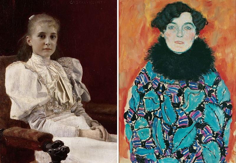 Sitzendes junges Mädchen, um 1894, und Johanna Staude, 1918