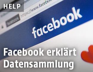 Facebook auf Bildschirm