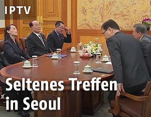 Südkoreas Präsident trifft nordoreanische Delegation