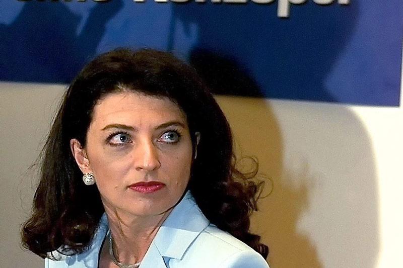 Die ehemalige Infrastrukturministerin Monika Forstinger (FPÖ) anlässlich einer Sitzung des Ministerrates am 4. 9. 2001 in Wien