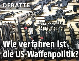Waffen in einem US-Waffengeschäft