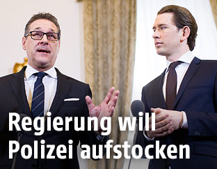 Bundeskanzler Sebastian Kurz und Vize Heinz-Christian Strache