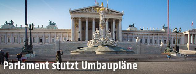 Parlamentsgebäude in Wien