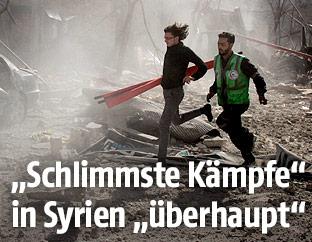 Rettungskräfte in Syrien
