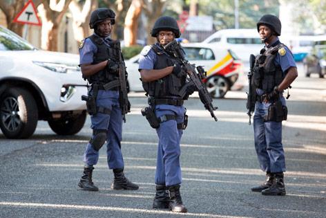 Sicherheitskräfte in Johannesburg