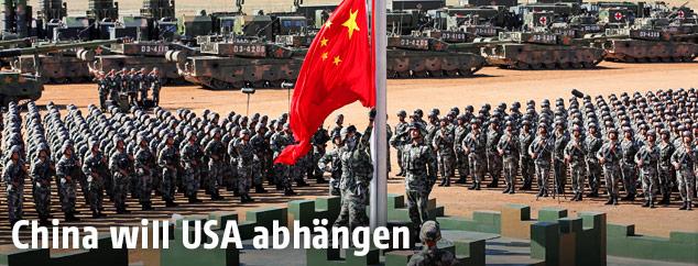 Militärparade in China