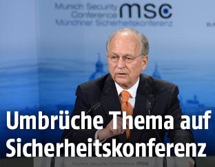 Der Vorsitzende der Münchner Sicherheitskonferenz, Wolfgang Ischinger