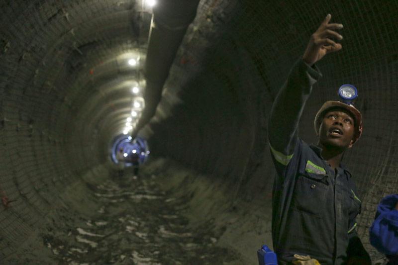Diamantmine in Südafrika