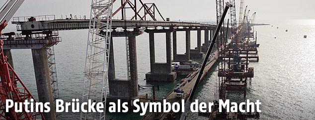 Krim Brücke im Bau