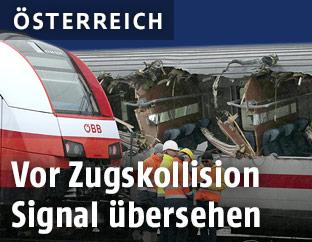 Zugkollision in Niklasdorf