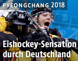 Deutschlands Spieler jubeln