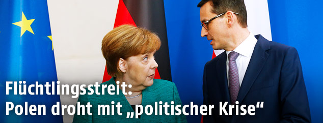 Angela Merkel und Mateusz Morawiecki