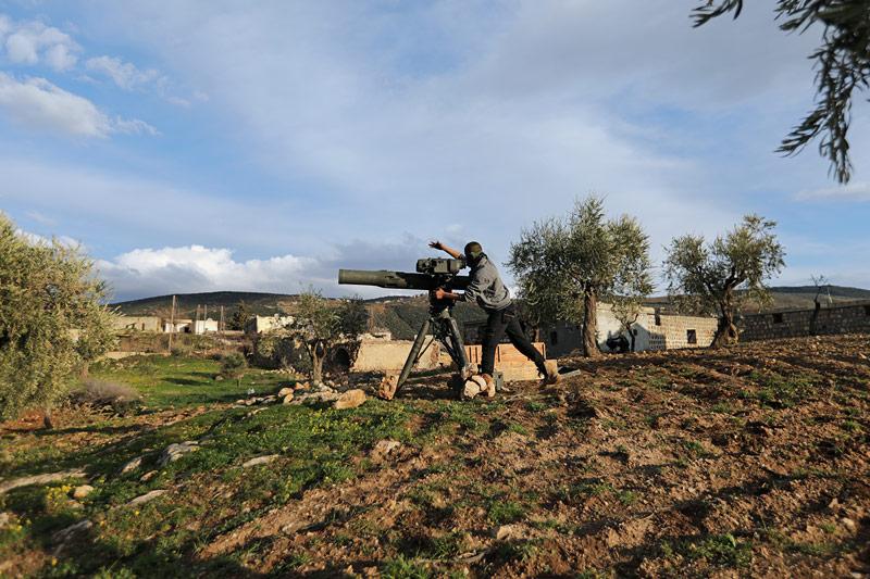 Soldat bei Afrin, Syrien