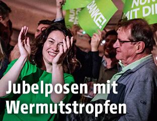 Spitzenkandidatin Ingrid Felipe während der Wahlfeier der Tiroler Grünen