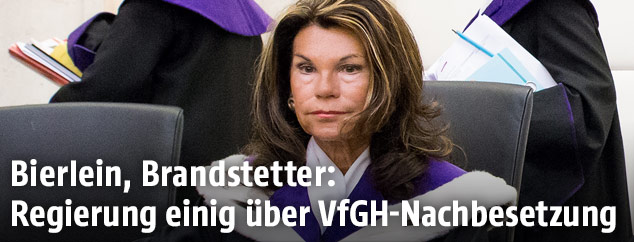Die designierte VfGH-Präsidentin Brigitte Bierlein