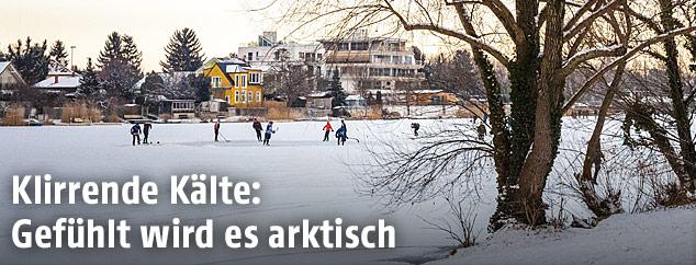 Eisläufer in Wien