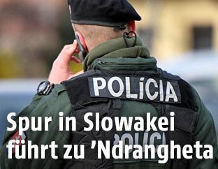 Slowakischer Polizist