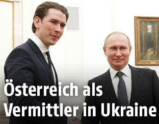 Bundeskanzler Sebastian Kurz und russischer Präsident Putin