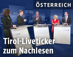 Landtagswahlkandidaten im ORF-Studio
