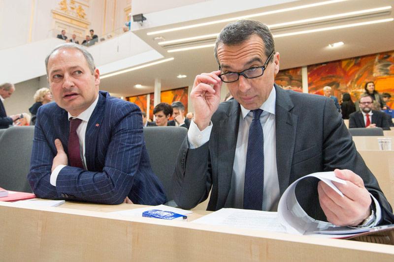 Christian Kern und Andreas Schieder