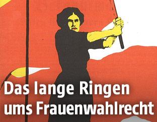 """Historisches Plakat """"Heraus mit dem Frauenwahlrecht"""""""