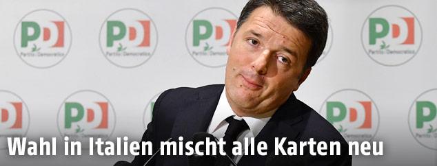 Der Chef der sozialdemokratischen Partito Democratico, Matteo Renzi
