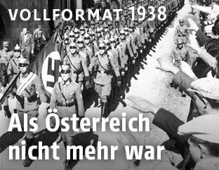 Deutsche Truppen marschieren im März 1938 in Österreich ein