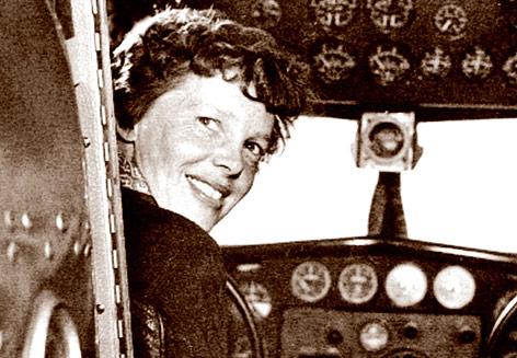 US-Flugpionierin Amelia Earhart im Jahr 1937