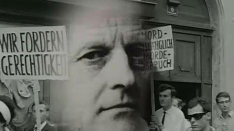 Demonstration gegen Murers Freispruch Graz 1963