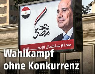 Wahlplakat des ägyptischen Präsidenten al-Sisi